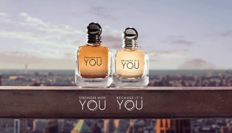 Armani Because It's You за жени и Armani Stronger With You за мъже